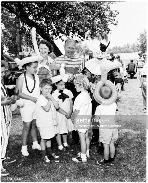 Adopted Children's Association 1 June 1958 Ernest DebsCandy DebsMrs Ernest DebsTimmy LewisJanice BisbySally FischerTommy LawsonCaption slip reads...