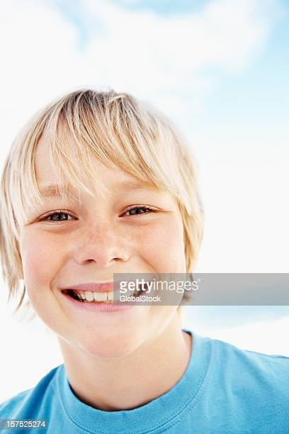 Adorable boy smiling
