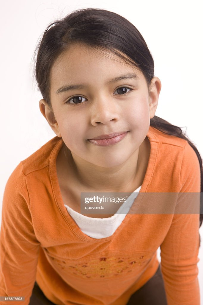 Adorable Close Up of Mixed Asian and Hispanic Girl : Stock Photo