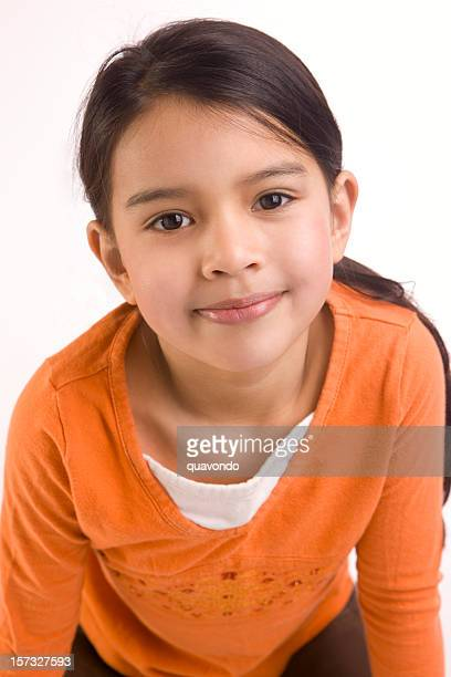 adorable close up of mixed asian and hispanic girl - little girls bent over stock photos and pictures