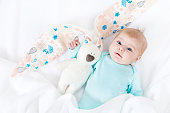 http://www.istockphoto.com/photo/adorable-cute-newborn-baby-girl-with-easter-bunny-toy-gm847786210-139046121