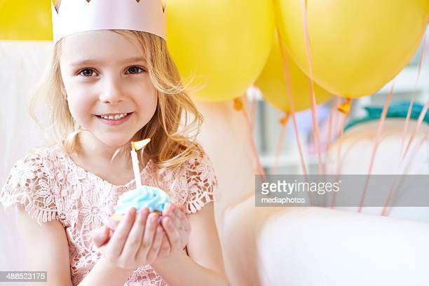 Adorable girl's birthday