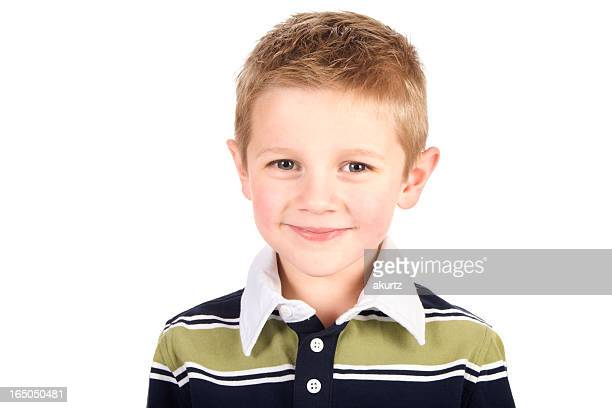 adorable little boy  elementary age student smiling happy isolated  XXL