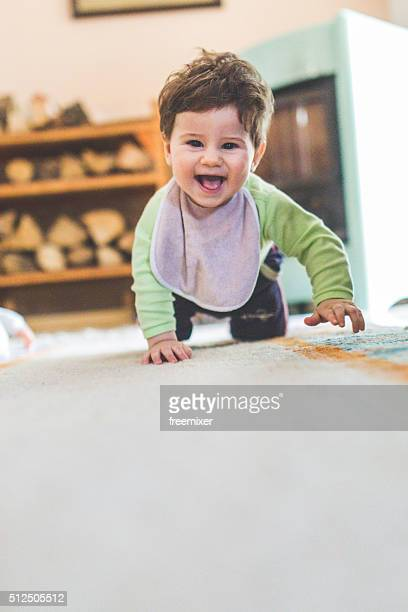 Adorable little boy with big smile