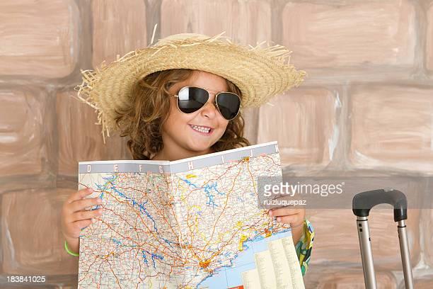 Adorable little tourist