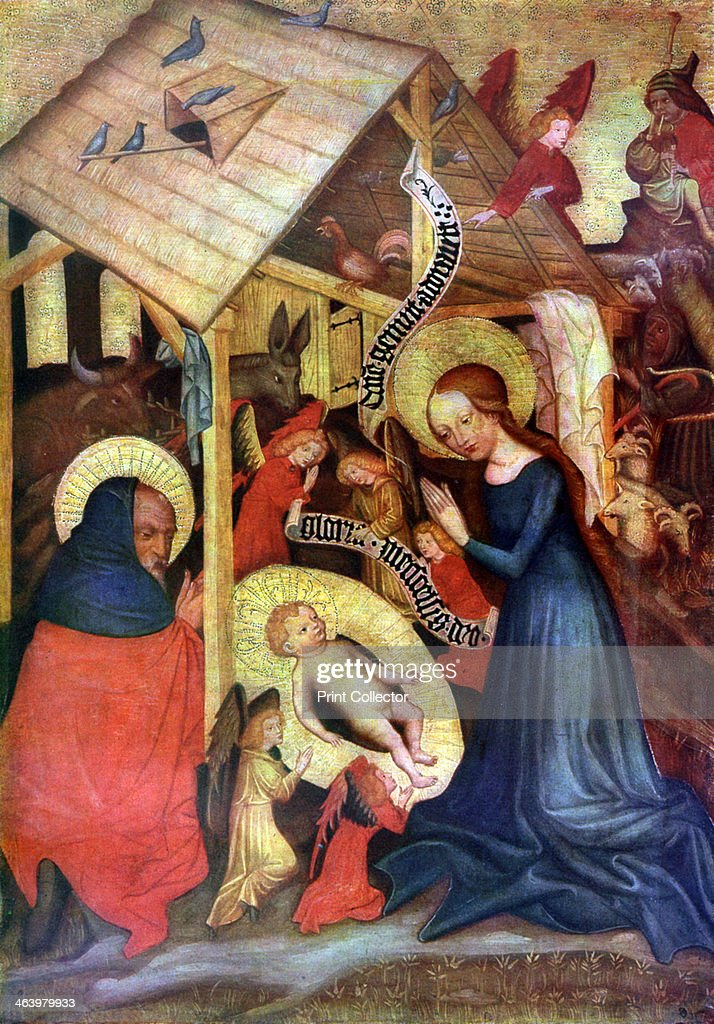 'Adoration of the Child', after 1430 (1955). Artist: Master of the Carrying of the Cross, Vyssi Brod : News Photo