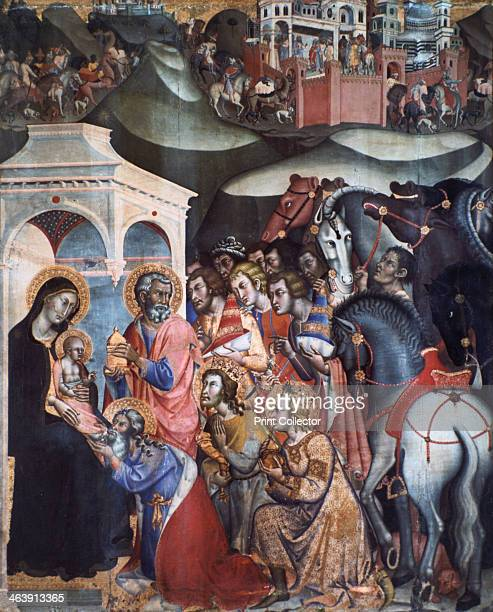 Adoration of the Magi 1380s From the Pinacoteca Nazionale Siena Italy