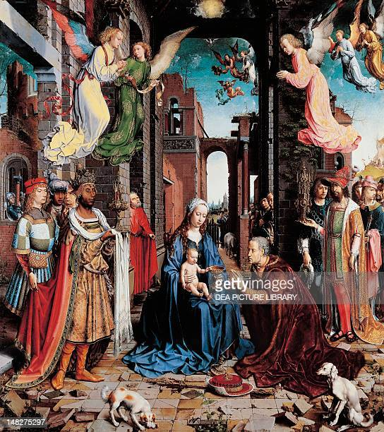 Adoration of the Magi 15101515 by Jan Gossaert oil on canvas 177x162 cm London National Gallery