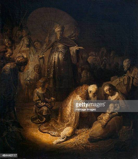 'Adoration of the Magi' 1632 Rembrandt van Rhijn Found in the collection of the State Hermitage St Petersburg