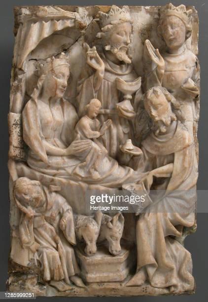 Adoration of the Magi, British, 15th century. Artist Unknown.