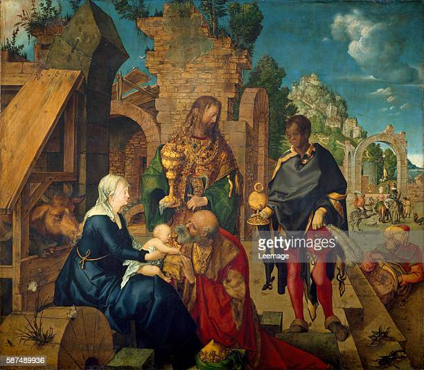 Adoration of the Magi by Albrecht Durer 1504 114x100 cm Florence Galleria Degli Uffizi