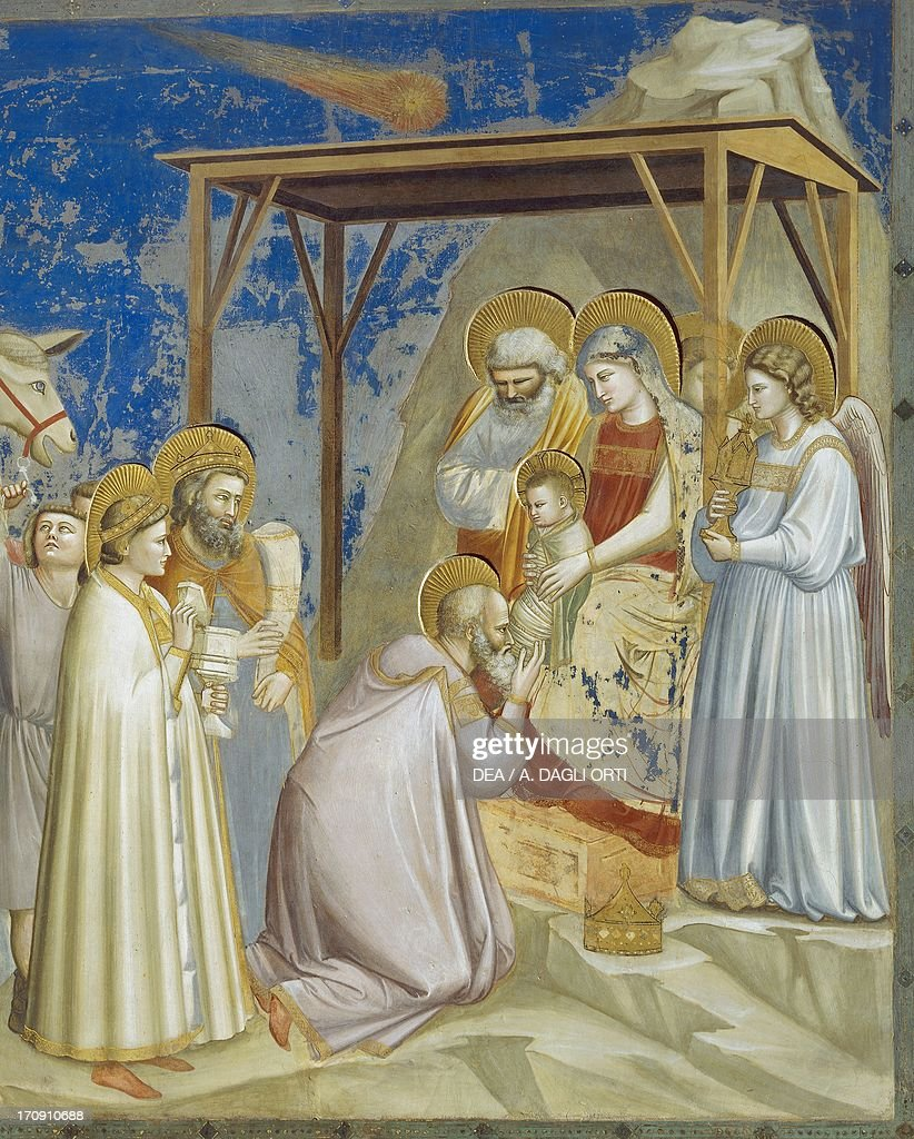 Adoration of Magi, by Giotto : News Photo