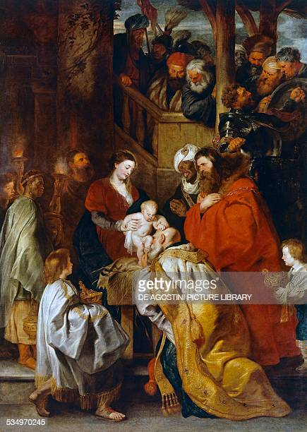 Adoration of the Magi by Peter Paul Rubens oil on canvas 384x280 cm Belgium 17th century Brussels Musées Royaux Des BeauxArts De Belgique