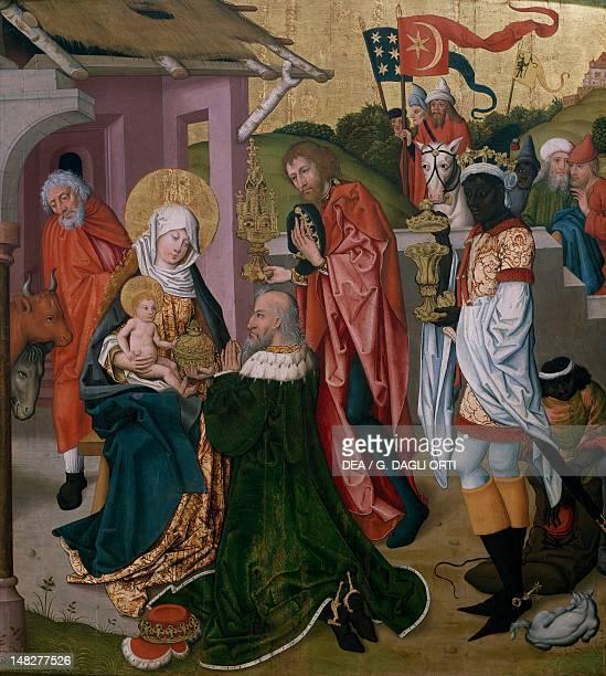 Adoration of the Magi ca 1475 by Martin Schongauer Colmar Musée D'Unterlinden