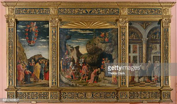 Adoration of the Magi with The Ascension and The Circumcision by Andrea Mantegna