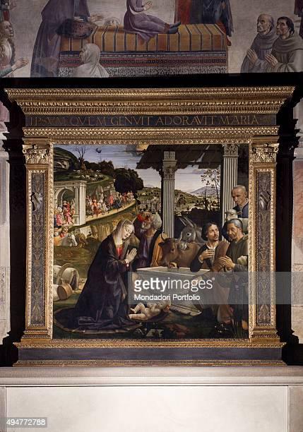 Adoration of the Shepherds by Domenico Ghirlandaio 14831486 15th Century tempera on board 167 x 167 cm Italy Tuscany Florence Church of Santa Trinita...
