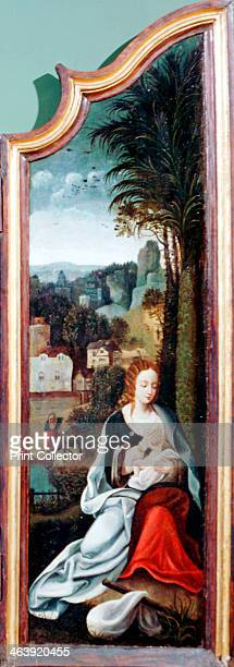 'Adoration of the Shepherds' triptych late 15thearly 16th century Right panel showing the Virgin and Child