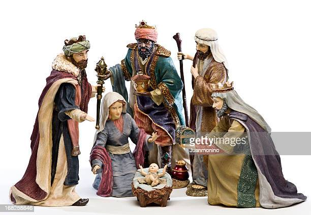 adoration (nativity scene) - nativity stock photos and pictures