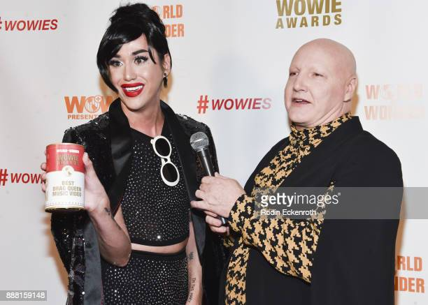 Adore Delano and James St James attend the 13th Annual WOWie Awards presented by World of Wonder Productions at The WOW Presents Space on December 7...