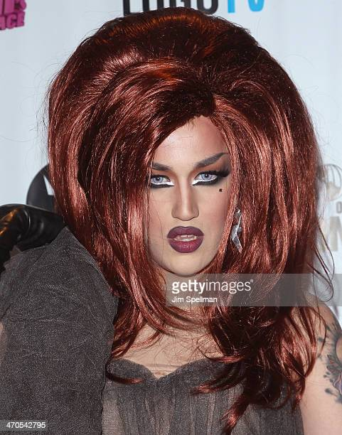 Adore Delano attends 'RuPaul's Drag Race' Season 6 Premiere Party at Stage 48 on February 19 2014 in New York City