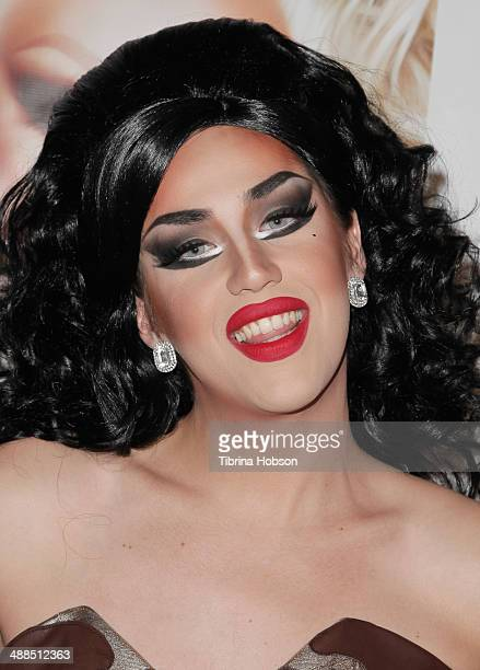 Adore Delano attends the Logo TV's 'RuPaul's Drag Race' reunion taping at The Theatre at Ace Hotel Downtown LA on May 6 2014 in Los Angeles California