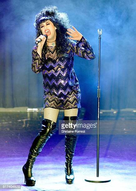 Adore Delano performs during RuPaul's Drag Race show at The O2 Ritz Manchester on March 24 2016 in Manchester England