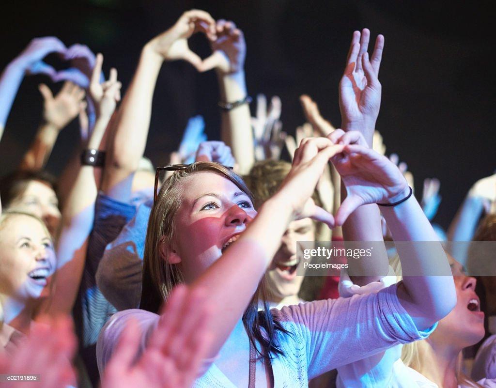 Adoring fans : Stock Photo