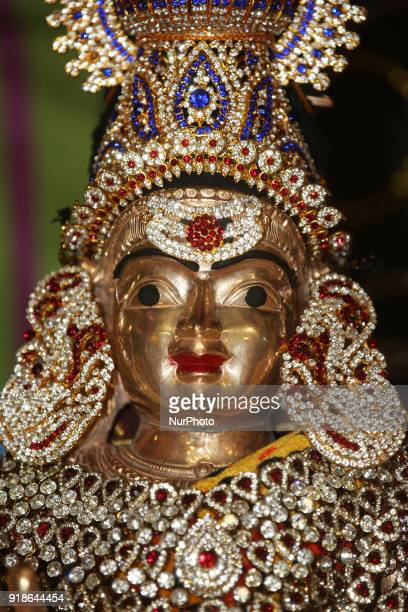 Adorned idol of Lord Shiva during the Maha Shivratri festival at a Tamil Hindu temple in Ontario Canada on February 13 2018 Maha Shivaratri which...