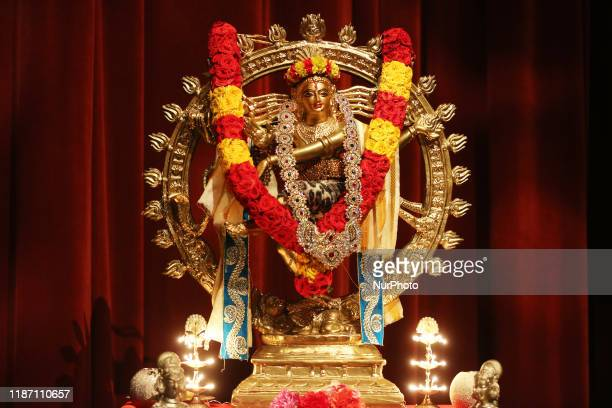 Adorned idol of Lord Shiva is displayed during a Bharatnatyam Arangetram performance on 21 Septemeber 2019 in Scarborough Ontario Canada The...