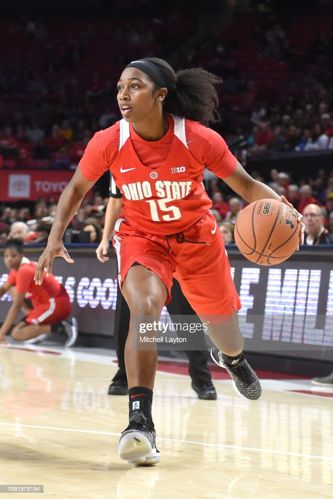 Adreana Miller Of The Ohio State Buckeyes Dribbles The Ball During A News Photo Getty Images