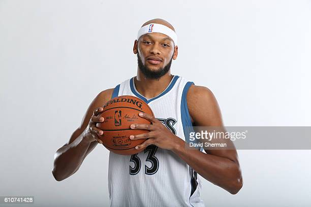 Adreian Payne of the Minnesota Timberwolves poses for a portrait during the 2016 2017 Minnesota Timberwolves Media Day on September 26 2016 at Target...