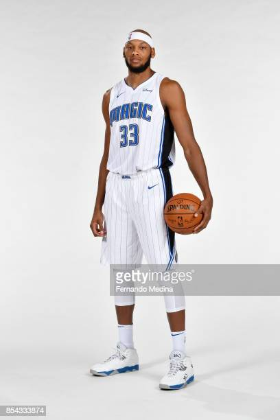 Adreian Payne of the Orlando Magic poses for a portrait during NBA Media Day on September 25 2017 at Amway Center in Orlando Florida NOTE TO USER...