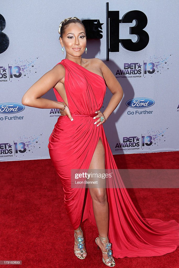 Adreinenne Bailon arrives at the 2013 BET Awards Make A Wish Arrivals at Nokia Plaza L.A. LIVE on June 30, 2013 in Los Angeles, California.