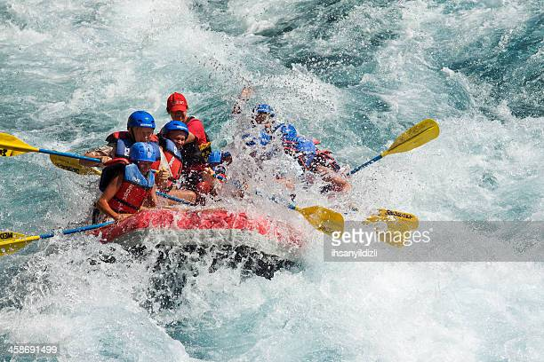 adrenaline - whitewater rafting stock pictures, royalty-free photos & images
