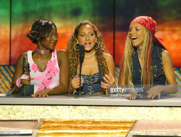 3LW adresses the audience after winning Best RB/Soul Album Group Band or Duo at the The 7th Annual Soul Train Lady Of Soul Awards