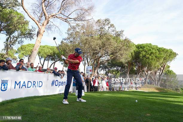 Adri Arnaus of Spain in action during Day One of the Open de Espana at Club de Campo Villa de Madrid on October 03, 2019 in Madrid, Spain.