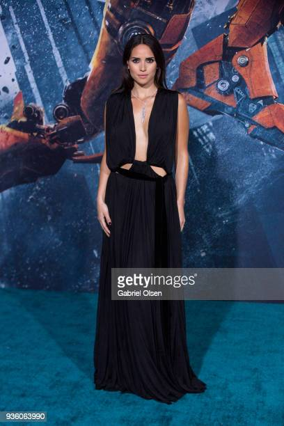 Adria Arjona arrives to Universal's 'Pacific Rim Uprising' premiere at TCL Chinese Theatre IMAX on March 21 2018 in Hollywood California