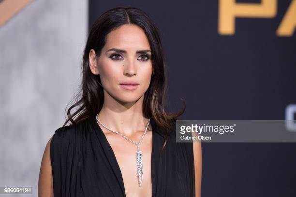 Adria Arjona arrives to Universal's Pacific Rim Uprising premiere at TCL Chinese Theatre IMAX on March 21 2018 in Hollywood California