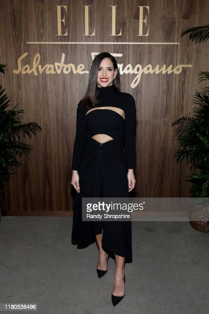 Adria Arjona attends ELLE Ferragamo Hollywood Rising Celebration on October 11 2019 in West Hollywood California