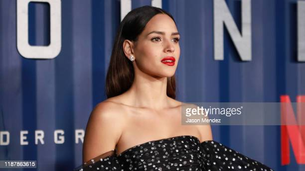 Adria Arjona attends Netflix's 6 Underground New York Premiere at The Shed on December 10 2019 in New York City