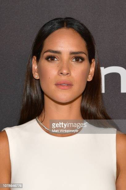 Adria Arjona attends the 2019 InStyle and Warner Bros 76th Annual Golden Globe Awards PostParty at The Beverly Hilton Hotel on January 6 2019 in...