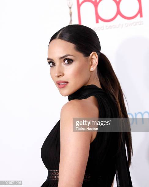 Adria Arjona attends the 2020 Hollywood Beauty Awards at The Taglyan Complex on February 06 2020 in Los Angeles California