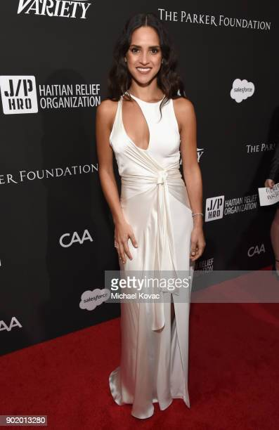 Adria Arjona attends the 7th Annual Sean Penn Friends HAITI RISING Gala benefiting J/P Haitian Relief Organization on January 6 2018 in Hollywood...