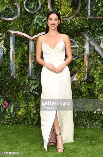 Adria Arjona attends the Global premiere of Amazon Original Good Omens at Odeon Luxe Leicester Square on May 28 2019 in London England