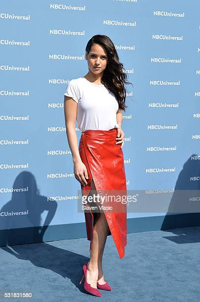 Adria Arjona attends the NBCUniversal 2016 Upfront Presentation on May 16 2016 in New York New York