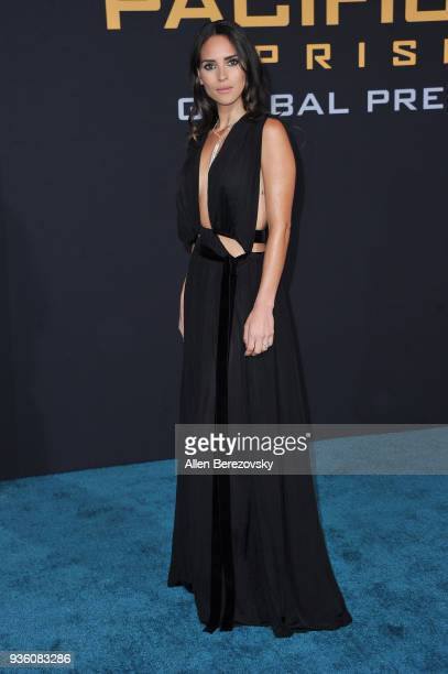 Adria Arjona attends the premiere of Universal's Pacific Rim Uprising at TCL Chinese Theatre IMAX on March 21 2018 in Hollywood California