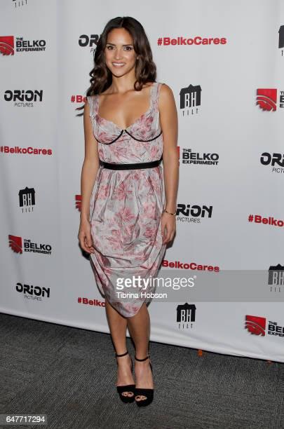 Adria Arjona attends the screening of 'The Belko Experiment' at Aero Theatre on March 3 2017 in Santa Monica California