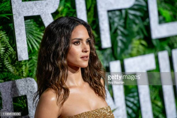 Adria Arjona attends the Triple Frontier World Premiere at Jazz at Lincoln Center on March 03 2019 in New York City
