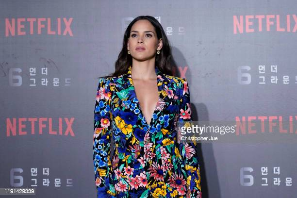 Adria Arjona attends the world premiere of Netflix's '6 Underground' at Dongdaemun Design Plaza on December 02 2019 in Seoul South Korea
