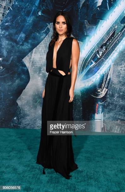 Adria Arjona attends Universal's 'Pacific Rim Uprising' premiere at TCL Chinese Theatre IMAX on March 21 2018 in Hollywood California